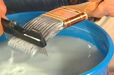 This paint brush cleaning tip is awesome!  I've never had such an easy time cleaning my brush before using this method