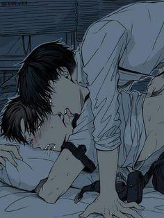 Eren & Levi | Shingeki no Kyojin #anime #yaoi