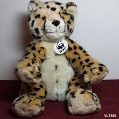 "BABW Leopard Cheetah WWF World Wildlife Fund Build a Bear Plush Animal Sound 12"""