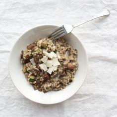 Risotto+van+boekweit+met+champignons