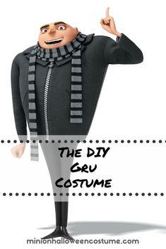 Despicable Me Gru Costume Gru Costume, Minion Halloween Costumes, Diy Costumes, Halloween Fun, Dark Gray Suit, Dark Grey, Mr Gru, Despicable Me Gru, Bald Man