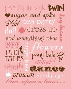 That's what little girls are made of.