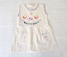 Baby dress 12 months Vintage embroidered by LazerBabyVintage, $20.00
