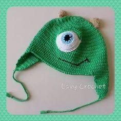 Crochet baby hat Monster & Co. - cappellino uncinetto bimbi