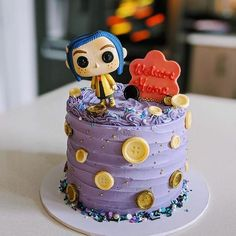 Coraline Movie, Coraline Jones, 23rd Birthday, Birthday Parties, Birthday Cake, Birthday Ideas, Phone Themes, Diy Clay, Cute Cakes