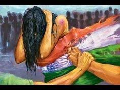 Rape is the fourth most common crime against women in India.According to the National Crime Records Bureau (NCRB) 2013 annual report, rape cases were reported across India in of these, were committed by someone known to the victim of the cases). Indian Flag, Indian Art, Independence Day India, Composition Painting, Drawing Competition, Poster Drawing, Indian Pictures, Flag Art, Art Competitions