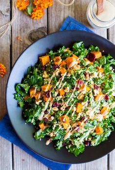 Fall Quinoa Salad with Kale, Sweet Potato & Maple Tahini Dressing-Main