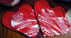 Grandma's Favorite Heart-Shaped Dishcloth, free pattern on Ravelry