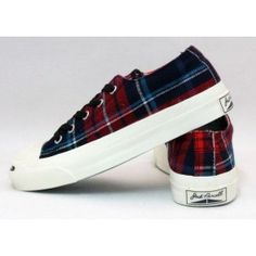 Converse Jack Purcell Red Plaid 001