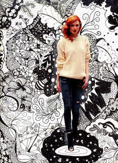 Art I: Zentangles Collage.