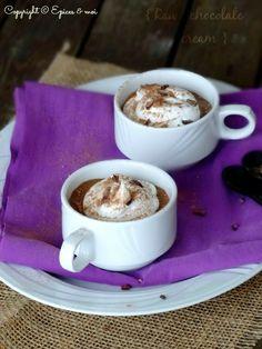 Crèmes crues au chocolat et tonka / epicesetmoi