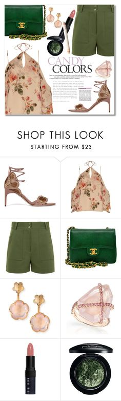"""""""Untitled #3398"""" by snickres on Polyvore featuring Brian Atwood, Exclusive for Intermix, TIBI, Chanel, Pasquale Bruni, Bobbi Brown Cosmetics and MAC Cosmetics"""