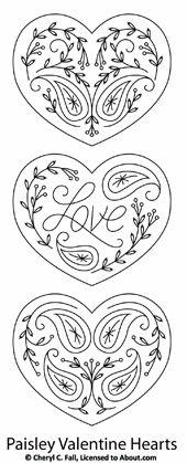 heart-shaped . . . designs for embellishment