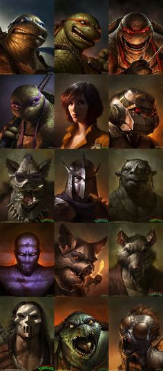 Teenage Mutant Ninja Turtles (and friends) 40 Realistic Versions of Cartoon Characters That Will Warp Your Mind - Dorkly Post Comic Book Characters, Comic Character, Comic Books Art, Comic Art, Tmnt Characters, Ninja Turtles Art, Teenage Mutant Ninja Turtles, Teenage Ninja, Twilight Princess
