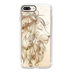 Poetic Lion - iPhone 7 Case, iPhone 7 Plus Case, iPhone 7 Cover,... ($35) ❤ liked on Polyvore featuring accessories, tech accessories, iphone case, iphone cases, apple iphone case and iphone cover case