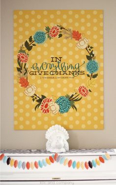 Thanksgiving print in 4 colors at Kiki and Company. Comes in BIG sizes! Love it.