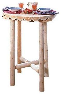 Rustic Natural Cedar Furniture Pub Table - traditional - bar tables - Hayneedle