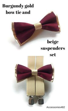 BURGUNDY gold wedding/gold BURGUNDY bow tie,beige suspenders,ring brearers outfits,baby boy golden bow tries groomsmen 2019 wedding Gold And Burgundy Wedding, Burgundy Bow Tie, Gold Bow Tie, Floral Bow Tie, Gold Wedding, Wedding Rings, Dream Wedding, Groomsmen Suspenders, Suspenders For Boys