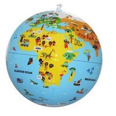 Ontdek leuke wetenswaardigheden van continenten, landen en volkeren over de hele wereld op deze leuke opblaasbare wereldbol van 30 cm. Educatief en decoratief! Ook verkrijgbaar in uitvoering geografie en dieren. We hebben ook uitvoeringen van 50 en 85 cm doorsnee, hoe leuk.