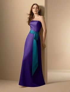 Bridesmaid Sash Great Color Combo For Moh But Teal With Purple Accent Bridesmaids Orange Dresseswedding