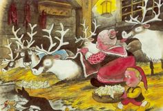 Художник-иллюстратор и писатель Mauri Kunnas (146 работ) Christmas Gnome, Christmas Books, Christmas Cards, Xmas, Retro Images, All Nature, Mythological Creatures, Goblin, Elves