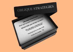 Oblique strategies by Bian Eno