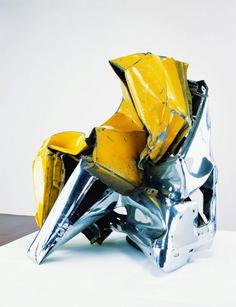 art-Walk — John Chamberlain Scull's Angel, 1974 Welded. Steel Sculpture, Soft Sculpture, Abstract Sculpture, Contemporary Sculpture, Contemporary Art, Museum Of Modern Art, Art Museum, Maya Design, Art Walk