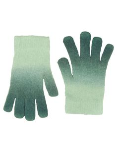 Green Tie Dye Wool & Angora Magic Gloves  #ChiaraFashion