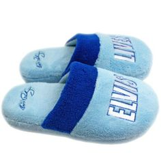 Elvis Lives BLUE Slippers by Elvis. $14.99. Officially Licensed. One Size Fits All. Elvis Lives BLUE Slippers