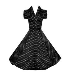 Black and White Polka Dot Vintage Style Swing Rockabilly Retro Dress - love this classic dress! Vintage Outfits, Vintage Style Dresses, Vintage Fashion, Dress Vintage, Mode Rockabilly, Rockabilly Shirts, Rockabilly Wedding, Pin Up Dresses, 50s Dresses