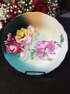 Newly Vintage Decorative Rose Plate