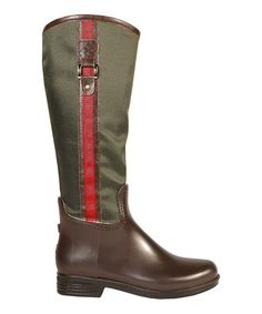Another great find on #zulily! Olive & Brown Ashley Prep Rain Boot - Women #zulilyfinds