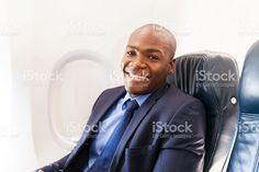 african american airplane passenger relaxing on plane royalty-free stock photo