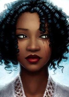The Lunar Chronicles, Portrait of Princess Winter by thesilvereye Black Girl Art, Black Women Art, Art Girl, African American Art, African Art, Natural Hair Art, Natural Hair Styles, Art Afro Au Naturel, The Lunar Chronicles