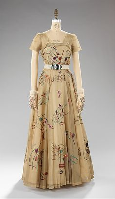 Evening dress Elsa Schiaparelli (Italian, 1890–1973) Manufacturer: House of Lesage (French, founded 1922) Date: fall 1939 Culture: French M...