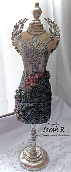 Scattered Pictures and Memories: Clockwork Angel Altered Dress Form ~ Creative Embellishments