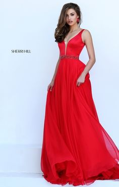RED DRESS Sherri Hill 50264