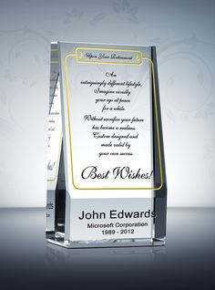 the wedge retirement gift plaque offers a beautiful way to honor someone retiring for years of