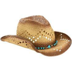 e5461109f1d70 Faded Glory - Faded Glory Turq Bead Cowboy Hat - Walmart.com