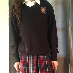 School Girl Private School Uniform Set High School and Middle school uniform set. Comes with white blouse, skirt (red and navy), and knit sweater. Great material. For Costume, nerd day, and actually private school uniform. I take offers! Great Brand Too; Parkers! Parker Other