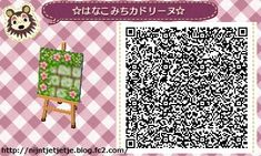 Animal Crossing Designs Grey brick path w/ Pink flower & Bunny Boarder TILE#7