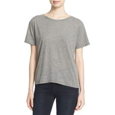 Women's Enza Costa Boyfriend Tee (4,790 PHP) ❤ liked on Polyvore featuring tops, t-shirts, heather grey, enza costa t shirts, boyfriend t shirt, jersey tee, short sleeve tee and short sleeve t shirts