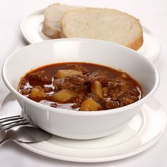 This recipe for Hungarian goulash soup, known as gulyas leves, is hearty enough to be eaten as a main course with bread and served over dumplings.