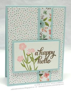 Stamp & Create With Sabrina.  [OK these are not my papers BUT try this with yellow gingham, strip of Graphic 45 yellow w/white flowers, green trim, white Petaloo on green polka dot card.]