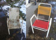 2 Mal überlegen bevor man etwas wegschmeißt! Outdoor Chairs, Outdoor Furniture, Outdoor Decor, Home Decor, Asylum, Repurpose, Love, Tutorials, Decoration Home