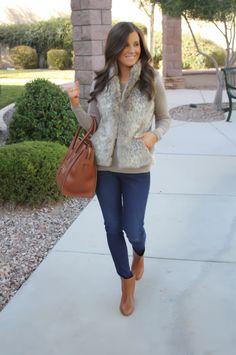 Fur Vest   A New Bag