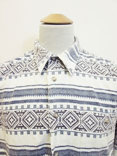 Vintage 90s Aztec Geometric Pattern Rockstar Shirt 2XL Tall uk.picclick.com