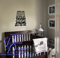 Star Wars Wall Decals | Star Wars Inspired Personalized Vinyl Wall Decal,  Long Ago In A Galaxy .