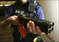 Improvised Weapon quad shotgun pistol - http://www.RGrips.com