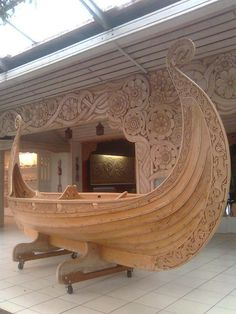 .amazing ship, and amazing wood carving